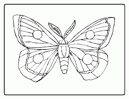 Eric Carle Butterfly Coloring Page Printable Sheet
