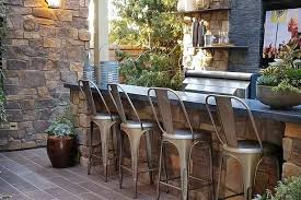 Modern Rustic Outdoor Bar