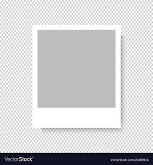 Empty Photo Frame On Transparent Background Vector Image