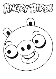 Drawing Angry Bird Pigs Coloring Pages
