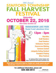 Nj Pumpkin Picking by Stafford Harvest Festival This Weekend At Manahawkin Lake Park