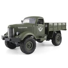 JJRC Q61 Transporter RC Car 4WD Military Truck RTR Army Green