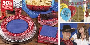 40th Birthday Decorations Canada by Bandana Western Theme Party Supplies Party City Canada