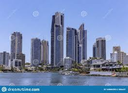 100 The Beach House Gold Coast Canal View With Highrises And Small Waterfront S