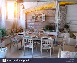 100 Rustic House A Small Dining Room In A Rustic House In An Old Style Stock Photo