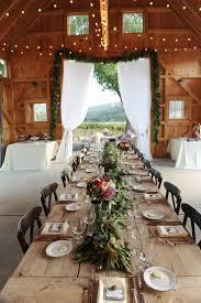 Beautiful Barn Wedding Table Settings