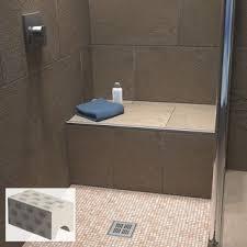 fliesenschiene24 sitzbank für bad und dusche befliesbar