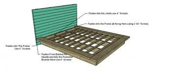 queen size platform bed plans bed plans diy u0026 blueprints