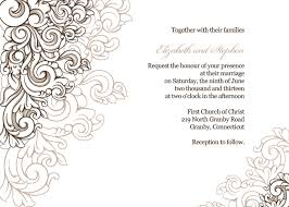 Scrolling Border Wedding Invitation Template Is Very Easy To Edit And