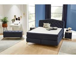 boxspringbett blau 180x200 cm