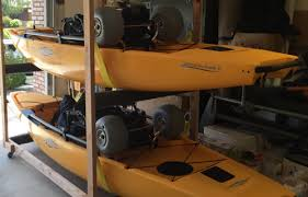 kayak ceiling hoist diy canoe and kayak storage options do it yourself and