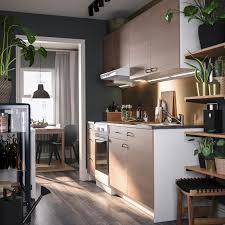 knoxhult küche holzeffekt grau 220x61x220 cm
