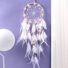 traumfänger feder dreamcatcher traumfänger mit led licht handgemachte catcher für kinder schlafzimmer wandbehang dekoration segen geschenk