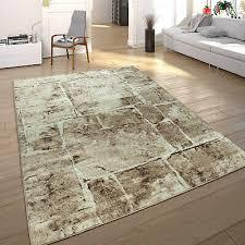 stein ziegel muster wohnzimmer teppich schlafzimmer teppiche