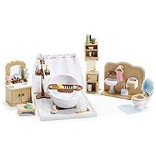 amazon com calico critters deluxe bathroom set toys games