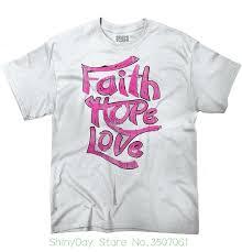 Großhandel Kurzarm Oansatz Baumwolle Tshirt Glaube Hoffnung Liebe 1