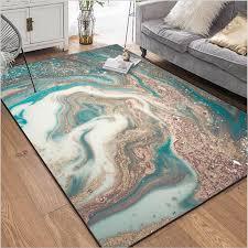großhandel aovoll teppichboden schlafzimmer fashion modern abstrakt teppich wohnzimmer marmor blau weiß gold schlafzimmer teppiche wohnzimmer küche