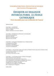 bureau de l education catholique éducation à l universel enseignement catholique