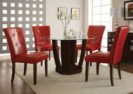 Red Leather Dining Table Chairs