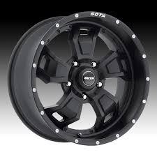 100 Gear Truck Wheels SOTA Offroad SCAR Stealth Black Custom Rims SOTA
