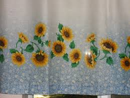Contemporary Sunflower Kitchen Decor Ideas With Crockery Curtains Lamps