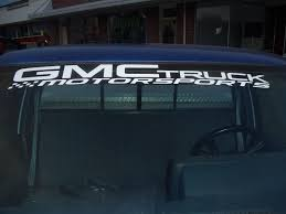 Product: GMC Truck Motorsports Windshield Topper Window Decal Sticker Got This Truck For My Wife Funny Bumper Sticker Vinyl Decal Diesel Custom Stickers Maker Vistaprint 2018 15103cm Cute Ladybug Car Motorcycle Ideas Diesel Stickers Ebay Window Decals For Cars Harga Produk 185m I Love Boss Window Joke Malaysia Dog Paw Print Suv Aliexpresscom Buy The Shocker Jdm Newest 3d Eyes Peeking Hoods Trunk Thriller New Design 22x19cm Do Not Touch My Car Decorative Aliauto Mickey Mouse Peeping Cover Graphic Decals Amazoncom