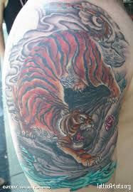 Asian Tiger Color Interpretation Of A Horimouja DesignThis Tattoo Was Lot