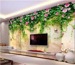 Custom Mural Photo 3d Room Wallpaper Swan Lake Marble Flower Vine Home Decor Painting Wall