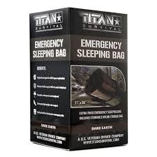 100 Fire Truck Sleeping Bag Emergency DARKEARTH TITAN Survival