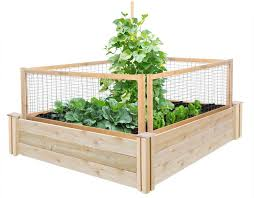 greenes fence companytall 4 x 4 cedar raised garden kit with