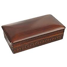Classic Linden Wood Traditional Polish Box Perfect Gift For Men To Keep Jewelry And Keepsakes On Desk Or Dresser