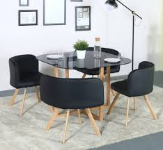 Black Glass Top Dining Table Set 4 Seater Tables Sets Line At Discounted Prices On Flipkart