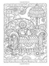 Dover Publications Creative Haven Cats Coloring Book Artwork By Marjorie SarnatAbstract Doodle Zentangle Paisley