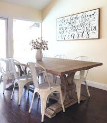 Farm Table And Chairs With Metal Farmhouse Plans