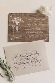 Mason Jars Inspired Printed Wooden Rustic Wedding Invitations