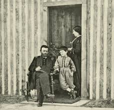 General Ulysses S Grant At City Point In 1864 With His Wife And Son Jesse