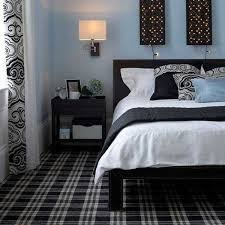 Decorating Bedroom With Black White And Blue