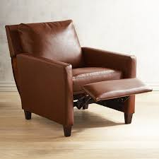 Darrin Leather Reclining Sofa With Console by Darren Saddle Brown Recliner Pier 1 Imports