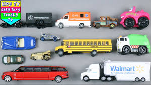 100 Car Truck Learn Vehicles For Kids Children Babies Toddlers With School Bus