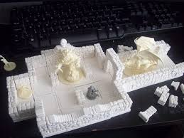 Making 3d Dungeon Tiles by Descent 2nd Edition Dungeon Hirst Arts