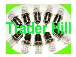 10 xenon flashlight bulbs for dewalt ryobi makita hitachi ridgid18