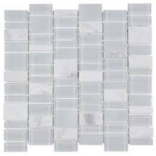 Thinset For Glass Mosaic Tile by Allen Roth Piano White Glass Mosaic Scale Indoor Outdoor Thinset