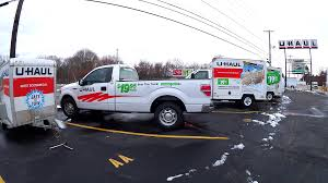 UHaul Rental Moving Trucks And Trailer Stock Video Footage ...