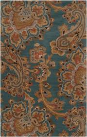 Teal Living Room Rug by Teal And Rust At Rug Studio
