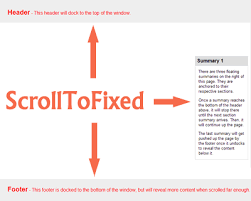 ScrollToFixed – jQuery Plugin to Fix Elements on Page