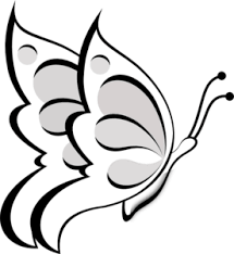 Butterfly Outline Clipart Black And White ClipartXtras