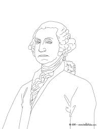 George Washington Coloring Page President Pages Hellokids Sheets