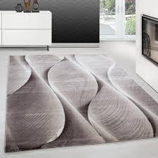 teppich modern design teppich rechteck pflegeleicht 3d baum wellen braun teppium teppich market