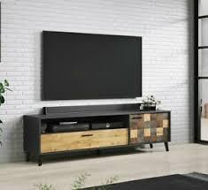 details zu tv lowboard fanse 180 mit schublade tv schrank hifi tisch wohnzimmer möbel