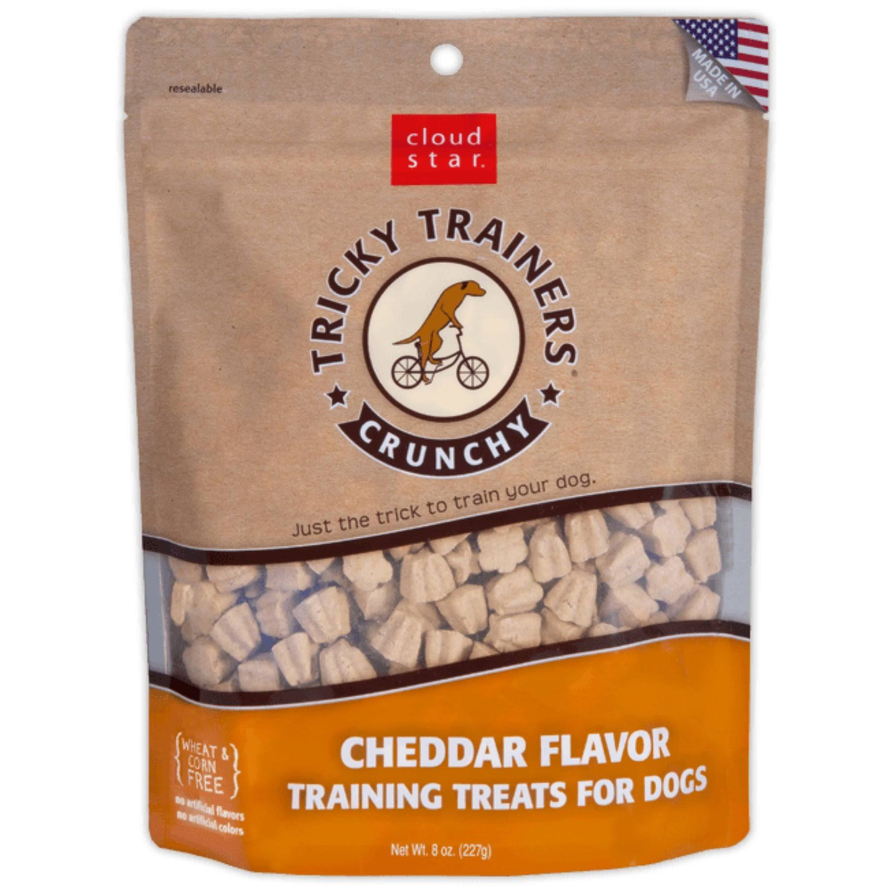 Cloud Star Crunchy Cheddar Tricky Trainers Dog Treats, 8 oz